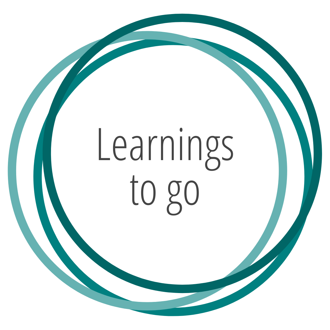 Karoline Hanelt - Strahlkraft Facilitation - Unterseiten - Mein Angebot - Learnings to go